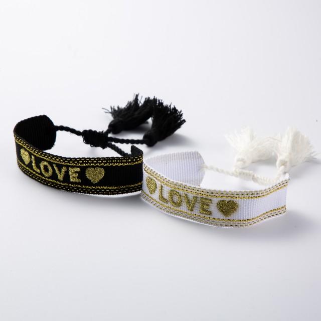 Bracelet tissé love